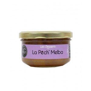 La pêch'melba sauce fraise vanillée