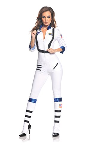 Underwraps Kostüm - Blast Off Female Astronaut Stretch Jumpsuit Costume Adult Large