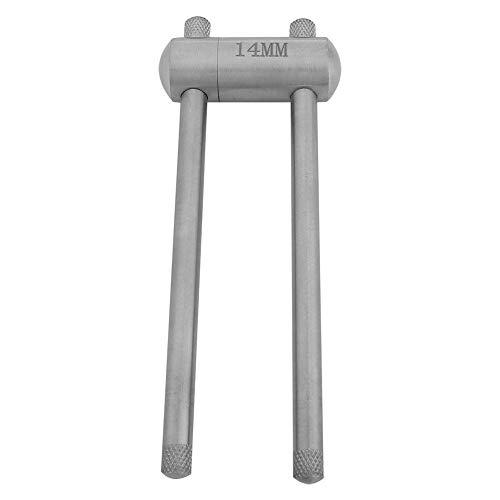 Alomejor Cue Tip Press Edelstahl Billard Pool Cue Tip Press Formwerkzeug für Snooker-Wartungszubehör(14mm)