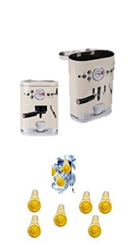 Oster-Angebote-Woche Vorratsdose im 'Kaffee-Vollautomat' Design weiß . Für Kaffeepads,...