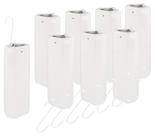 Lantelme 8 Stück Keramik Heizungsverdunster Set für Rippen Röhren Heizkörper Wasserverdunster Luftbefeuchter 7687