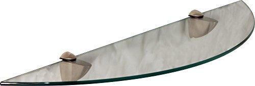 IB-Style - étagère murale en verre | 76 variations | 600 x 150 mm clair + Clips Classico chromé
