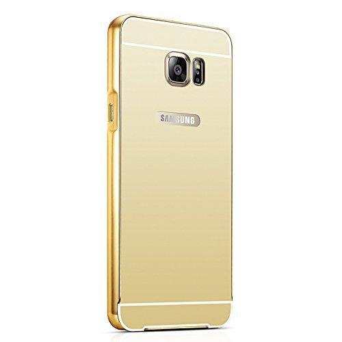 AryaMobi Aryamobi Gold Luxury Metal Bumper + Mirror Back Cover Case For Samsung Galaxy J5