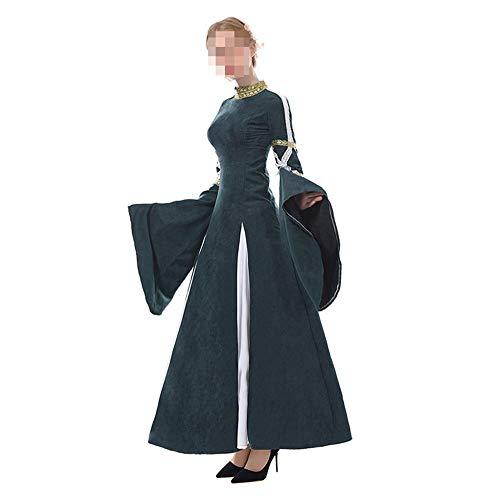 Mittelalterliche Weibliche Kostüm - Halloween kostüm, Halloween Cosplay kostüm Halloween Cosplay Horror Kostüm,Halloween-kostüm Erwachsene Weibliche Mittelalterliche Hoftracht Vintage-Kleidung Cospaly