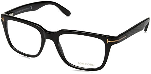 Tom Ford Herren Ft5304 Brillengestelle, Schwarz (NERO LUCIDO), 54
