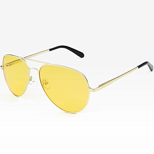 Ppy778 Aviator Polarized Sonnenbrillen Herren , UV 400 Schutzrahmen aus Metall (Color : A)