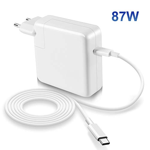 Compatible con Macbook Pro Air cargador 87W USB C de 13/15 pulgadas 2016 finales...
