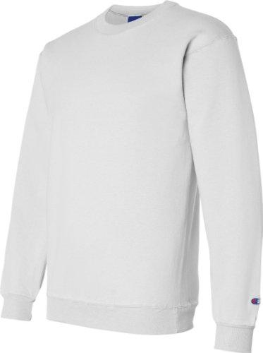 Champion Double Dry Men's Eco Fleece Crew Weiß - Weiß