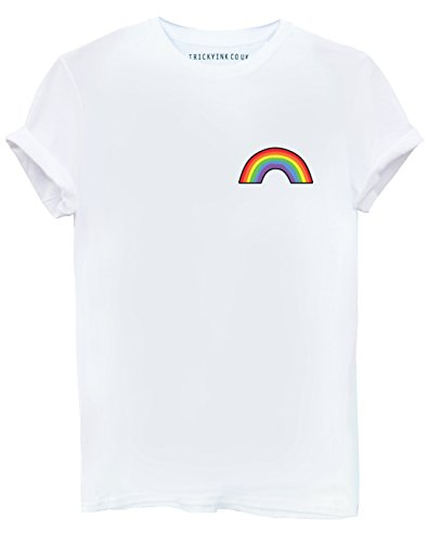 Tricky Ink Rainbow Pocket White T Shirt S M L XL 2XL Mens & Womens Blogger Hipster Tumblr