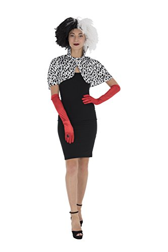 Frauen Kostüm Dalmation - Zac's Alter Ego® Fancy Dress/Halloween 3 Piece Instant Dalmation Dog Lady Set World Book Day Fancy Dress