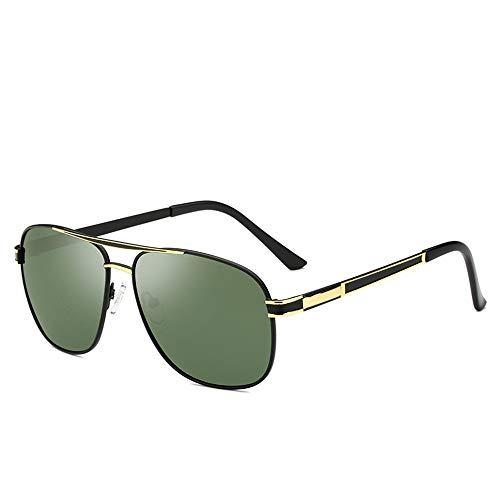 GXM-FR Polarisierte Sonnenbrille, Retro-UV400-Brille mit großem Rahmen, für Männer geeignet, die Autofahrer, Radfahrer, Sportler, Angler und Golfspieler sind. Ultraleichte Brillen,E