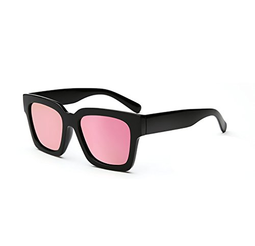 WYJL Sonnenbrillen Persönlichkeit Gezeiten Menschen Runde Gesicht Polarisierte Sonnenbrille Langes Gesicht Männlich Retro Brille Big Box Quadratische Sonnenbrille Anti-UV-Frau Brille (Farbe : D)