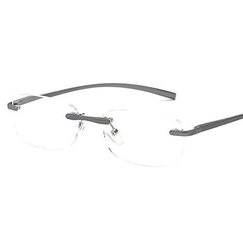 Edwiin Lesebrillen Metallrahmen Rahmenlos Augenoptik Flexibel Lesehilfe Sehhilfe Arbeitsplatzbrille Halbrand Unisex von 1.0 1.5 2.0 2.5 3.0 3.5 4.0