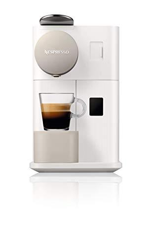 Nespresso DeLonghi Lattissima One EN500W - Cafetera monodosis de cápsulas Nespresso con depósito de leche compacto, 19 bares, apagado automático color blanco