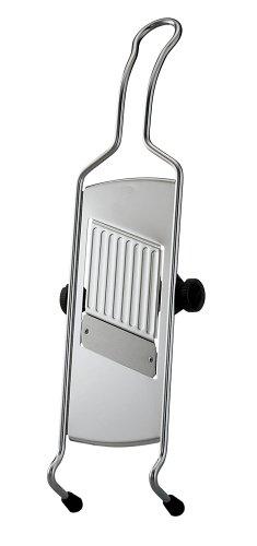 RÖSLE Hobel mit Drahtgriff, Edelstahl 18/10, Silikon, 40 cm, Klinge elffach verstellbar, Profiqualität