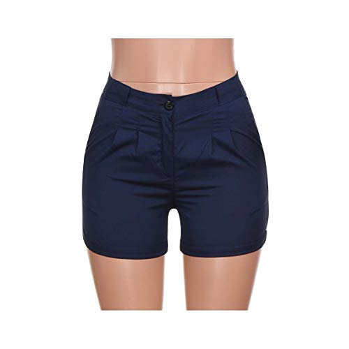 EXLEXD& Plus Size Shorts Women Summer Vintage Pants Pocket Button Pants Shorts Women hot Pants sexy Short Pants Women Feminino Mujer Navy 5XL - Button Fly Denim Bib