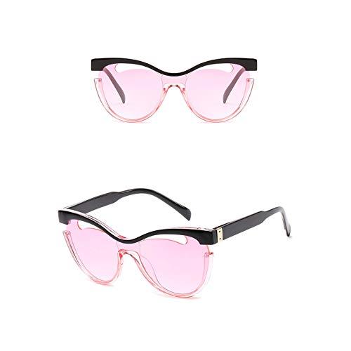 Aeici Sportbrille Laufen Damen PC Siamesische Sonnenbrille mit Ausgehöhlter Sonnenbrille Rosa Sonnenbrillen