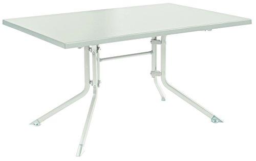 PEGANE Table de jardin pliante en aluminium coloris blanc/blanc - Dim : l160 x L95 x H74 cm - A usage professionnel