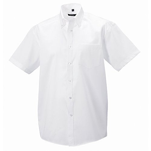 Russell Collection Short sleeve ultimate non-iron shirt White 18 -