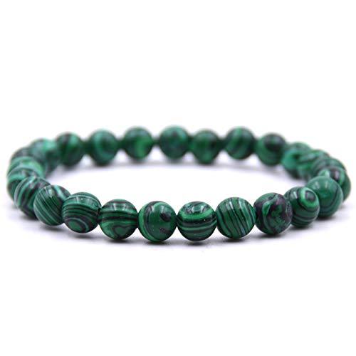 Baostic Armschmuck Natural Stone 8Mm Beads Bracelets Tiger Eye Lava Round Beads Elasticity Rope Bracelets for Women & Men Jewel 6