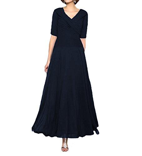 O.D.W Frauen Kurzarm Formales Mutter des Brautkleides Party Ballkleider Abendmode(Navy Blau, 54)