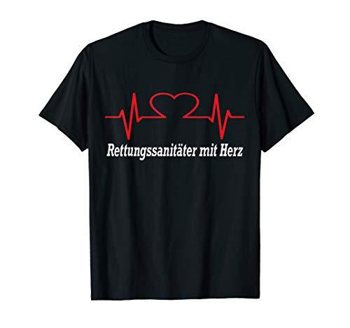 Herren Rettungssanitäter mit Herz Rettungsdienst T-Shirt für Helden T-Shirt
