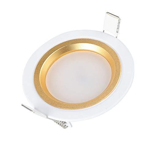 Wlnnes 6 Paquetes 5W LED Empotrado Panel Lámpara de luz Impermeable Baño...