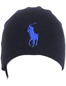 Ralph Lauren Cappello Big Pony in lana merino Mod.47387541 Blu - Taglia unica
