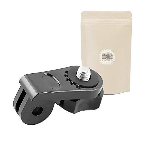 Adaptout AGD Stativadapter für GoPro mit 1/4 Zoll Schraube, Befestigung für Go Pro Hero 7/6/5/4/3+/3/2/1 auf Einbeinstativ Ministativ Zubehör, französische Marke