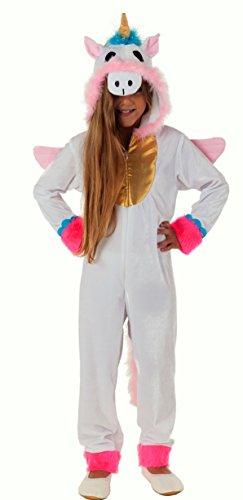 Magicoo Deluxe Einhorn Kostüm für Kinder - Kompletter Ganzkörperanzug Einhorn Kostüm Kind Mädchen Jungen (128)