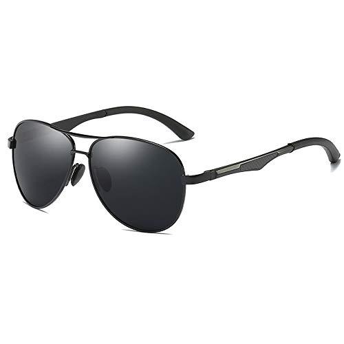 Sunglasses LWS L.W.SURL Herren-Sport-Sonnenbrille Polarisiertes Objektiv, das den UV400-UV-Cut ultraleichtes Aluminium trägt (Color : Schwarz, Size : Kostenlos)