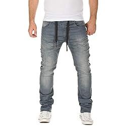 WOTEGA Chándal para Hombre Noah- Vaqueros Jeans - Pantalones Deportivos Grandes Caqui Humo Plata, Gris (Turbulence Grey 3R4215), W40/L30