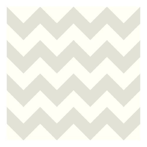 York Wallcoverings KS2308 Cool Kids Chevron Wallpaper, Snow/Pale Grey by York Wallcoverings (Wallpapers Chevron)
