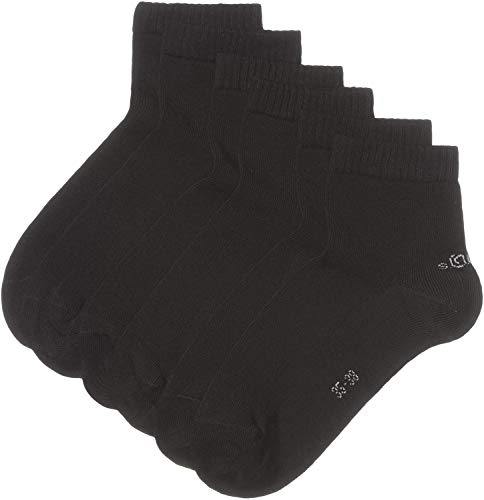 s.Oliver Unisex 3er Pack Sneakersocken, Schwarz (05 black), 39-42