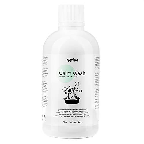 Nenoo Champú Reparador y Relajante Para Perro, Calm Wash Para la Piel Seca con Picores, Con Aloe Vera, Árbol de Té y Caolín de 500 mililitros