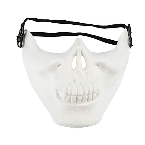 (LEJINNA Halloween Mask Skull Skeleton Mask Full Face Protector for Cosplay Masquerade Party)