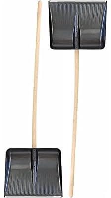 Grosse Bärenschaufel Doppelpack 2 Stück Holz Schneeschieber Schneeschaufel Schneeräumer Schneewanne mit Alukante 155cm