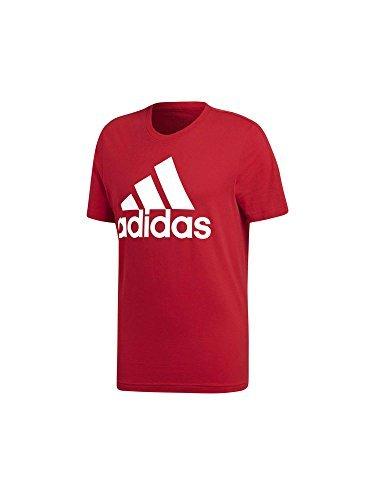 adidas Herren Pullunder ESS Linear Tee, Rot (Scarlet/White Scarlet/White), Medium
