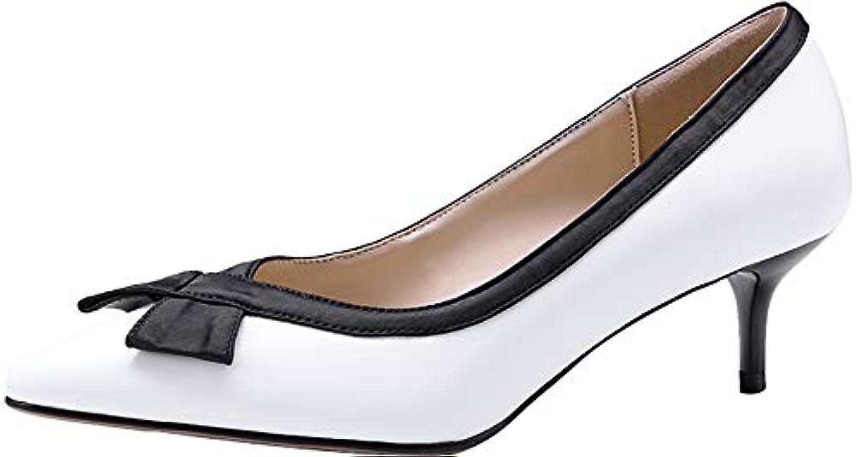 Calaier Calaier Calaier Donna Qaice Punta-Toe 5CM Scivolare su Scarpe col Tacco Calzature | Della Qualità  1718a4