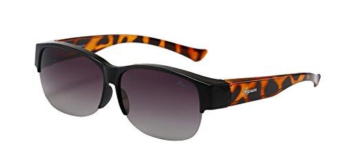 Joysun polarisierte LensCovers Sonnenbrille Unisex tragen über Korrekturbrille 8008L5