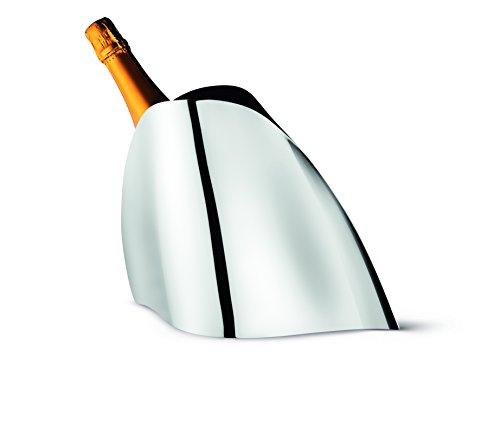 George Jensen Genuss-Champagnerkühler, Edelstahl, Stainless Steel, 17.3 x 45.6 x 31.6 cm