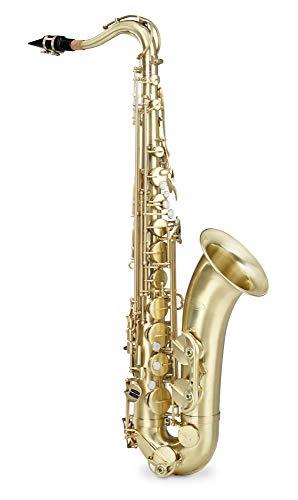 Classic Cantabile Winds TS-450 Bb brushed Tenorsaxophon (Tenor-Saxophon, gebürstetes Messing, Bb-Stimmung, Hoch-Fis-Klappe, sehr ergonomische Klappenmechanik)
