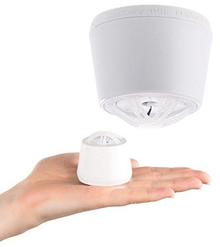 VisorTech Hitzemelder: Mini-Hitzewarnmelder mit 10-Jahre-Batterie, 85 dB Alarm (Wärmemelder)