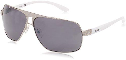 Guess Herren GU6512_10C Sonnenbrille, Grau (Grigio/bianco), 66