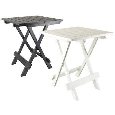 Lifetime Noir/Table Basse APPOINT Pliante en Plastique 50 X 45 X 43 CM pour Camping OU Jardin Exterieur Pliable