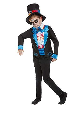 Kostüm Dead Kid - Smiffys 50792M Day of The Dead Boy Kostüm, mehrfarbig, M - Alter 7-9 Jahre