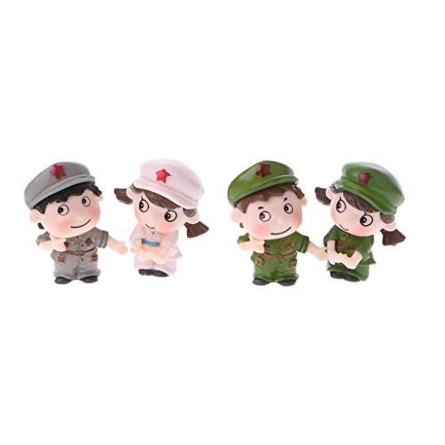 Kofun Chinesische Soldaten In Miniatur - Ornament - Puppe Spielzeug Puppenhaus Bonsai - Dekor -