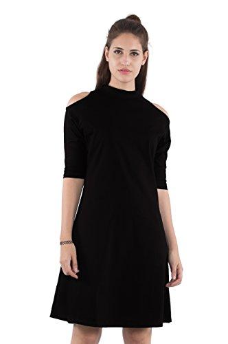 Bewakoof Womens A-Line Dress (Black, XXL)