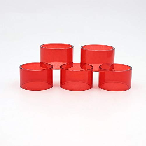 Preisvergleich Produktbild Denghui-ec,  5 stücke Ersatzglasrohr Für Limitless Plus / Combo RDTA II / Combo RDTA,  Frei von Tabak und Nikotin (Bundle : for Combo RDTA,  Color : Red)