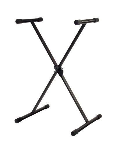 Classic Cantabile X-Keyboardständer (höhenverstellbar in 5-Stufen, klappbar, zerlegbar, stabil) schwarz